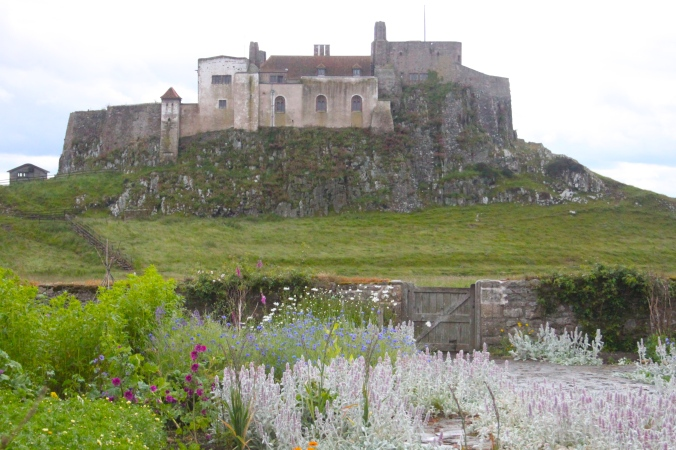 The View of Lindisfarne Castle from the garden designed by Gertrude Jekyll