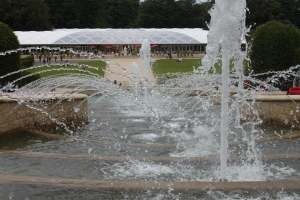 View down the cascade towards the pavilion